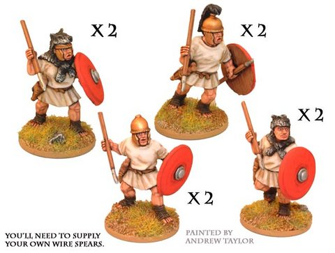 Roman Velites with spear/javelin & shield