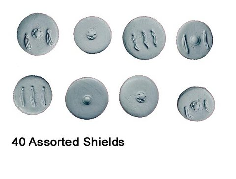 Spanish Round Shields (approx 40 per pack)
