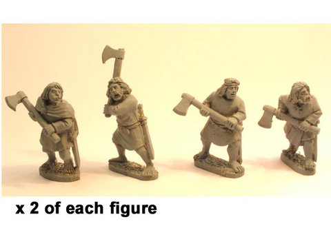 Irish Noble Warriors with 2 handed axes