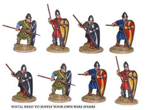 Unarmoured Norman Spearmen