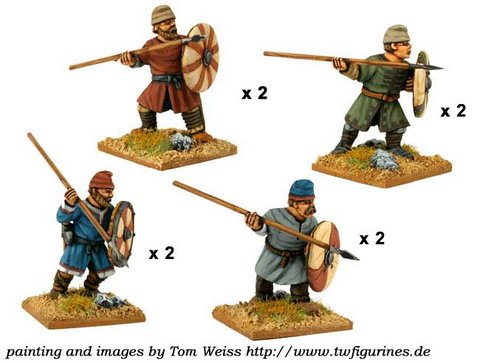 Saxon Fyrd with Spears/Javelins