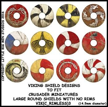 Viking Shield Transfers 3 (Rimless)
