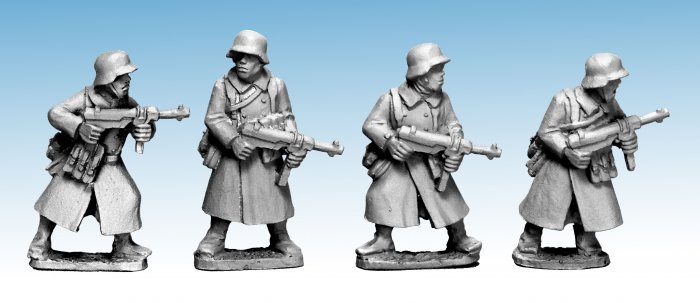German Infantry in Greatcoats (SMG)