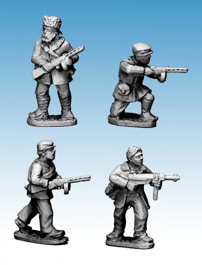 Partisans with small machine guns