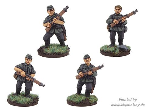 German Riflemen in side caps