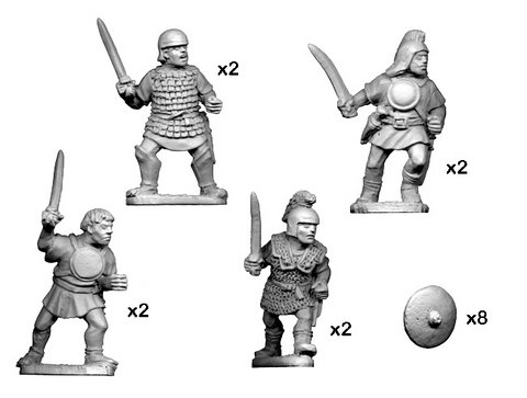 Lusitanian warriors with swords