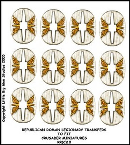 Republican Roman Shield Transfers