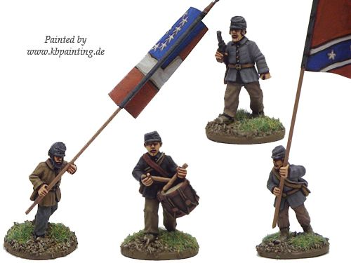 ACW Infantry Command in Jacket and Kepi