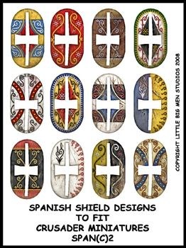 Ancient Spanish Shield Transfers II