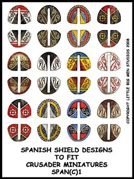 Ancient Spanish Shield Transfers I