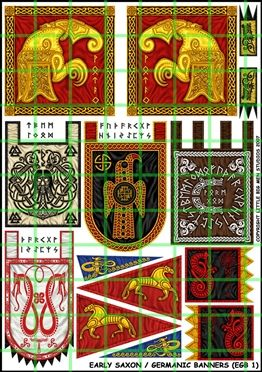 Early Saxon/ Germanic Banners