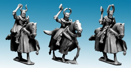 Mounted Teutonic Knights with Axes and Maces