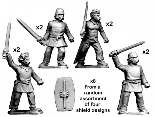 Unarmoured warriors with Swords