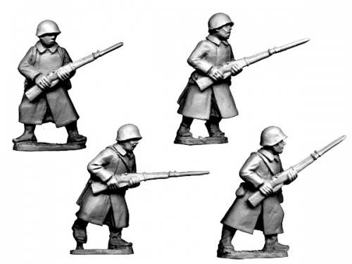 Russian Infantry in Greatcoats I