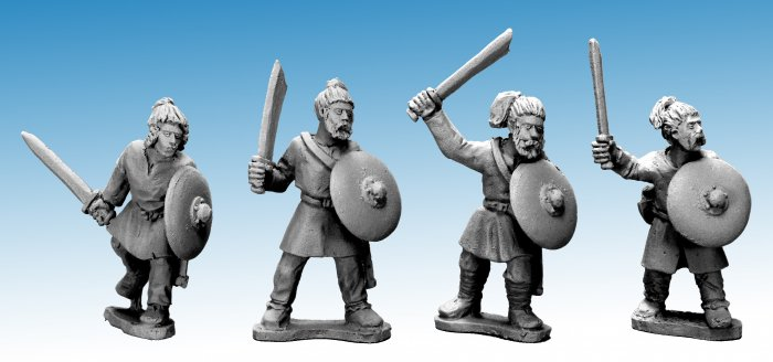 Saxon Warriors with Swords