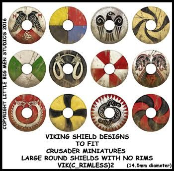 Viking Shield Transfers 2 (Rimless)