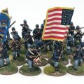 Photo of Union Regiment (24 figures plus flags). (ACWU01)