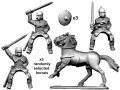 Photo of Mounted Armoured Nobles with Swords (ACE022)