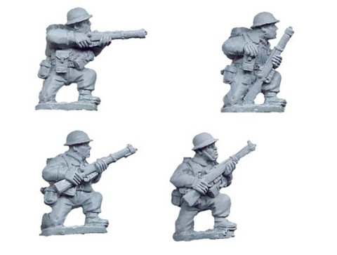 British Riflemen kneeling