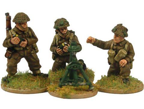 Late British 3inch Mortar and crew