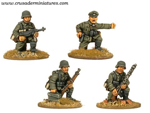 German MG34 Team & Command Kneeling